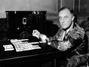FDR playing solitaire