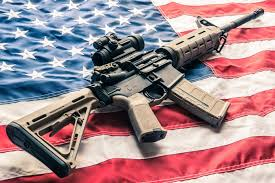 AR-15 on flag